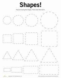 tracing basic shapes shapes worksheets preschool shapes and