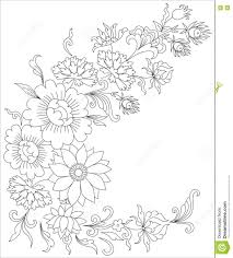 bouquet of flowers coloring page for adults stock vector image