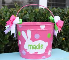 easter buckets easter personalized by gamedaygirlsandgifts on etsy 32 00
