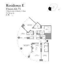 3 Bedroom Condo Floor Plan by Trump Tower Floor Plans Layouts At 401 N Wabash