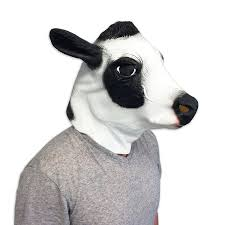 amazon com cow mask funny animal masks off the wall toys