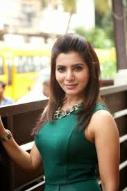 south indian actress and model samantha in green colour sleeveless