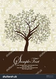Family Reunion Invitation Cards Invitation Card Abstract Floral Background Stock Vector 83415307