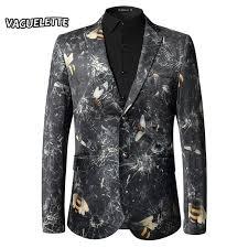 unique mens luxury men blazer slim fit 3d printed bees pattern unique mens