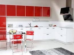 awesome kitchen collection wit red and white combination colors