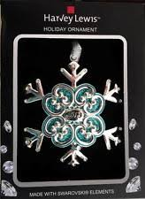 swarovski snowflake ornaments ebay