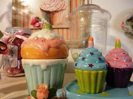 Pink Canisters Kitchen Cupcake Kitchen Decor Theme Ideas