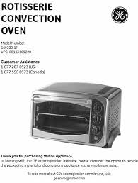 Toaster Oven Convection Oven Ge Convection Oven 898691 53 User Guide Manualsonline Com