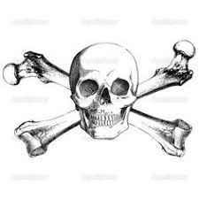skull and crossbones see how it looks less like a cross and more
