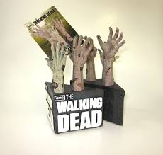 the walking dead product review walking dead zombie hand bookends