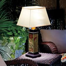 faux slate outdoor battery operated table lamp100 above ground