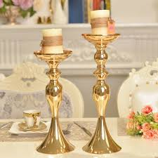 Silver Wedding Centerpieces by Aliexpress Com Buy 3 Sizes Gold Metal Candle Holder Candle Stick