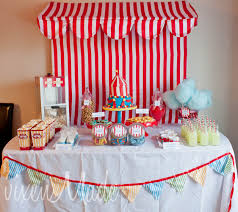 ideas vintages baby shower decoration food circus