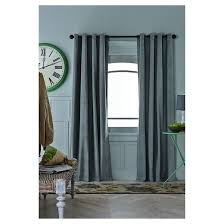 Two Different Colored Curtains Velvet Curtain Panel Threshold Target