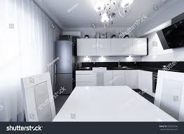 beautiful interior apartment kitchen classic style stock photo