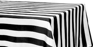90 x 156 table stripe satin rectangular tablecloth 90x156 black white cv linens