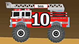 monster truck video for toddlers monster trucks fire trucks teach kids counting u0026 numbers preschool