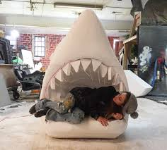 makes jaws inspired crib for his 2 month nephew bored