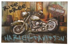 Harley Davidson Home Decor Catalog Entrancing 25 Harley Davidson Wall Art Decorating Design Of 3d