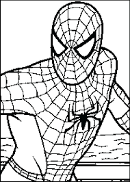 coloring pages spiderman printable spiderman coloring free