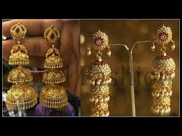 gold jhumka earrings design with price gold jhumka designs with weight and price