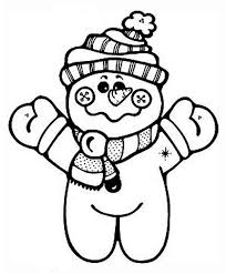 cute winter coloring pages cute snowman doll in winter outfit coloring page download print
