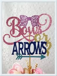 gender reveal cake toppers bows or arrows cake topper bows or arrows baby reveal party