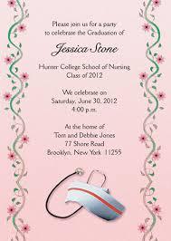 graduation invitation for nurses grad 16 pink
