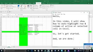 auto highlight row u0026 column of selected cell in excel using vba