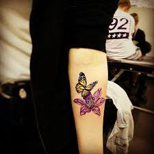 butterfly tattoos on inner arm tattooic