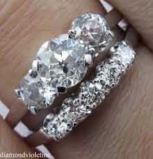 old wedding rings images 1 57ct antique vintage early art deco old european diamond 18k jpg