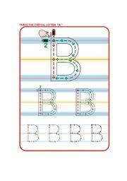 esl kids worksheets trace the letter