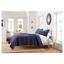 target threshold vintage washed solid all over stitched chambray quilt sham threshold target