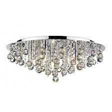 dar lighting pluto plu5450 polished chrome flush 5 light ceiling