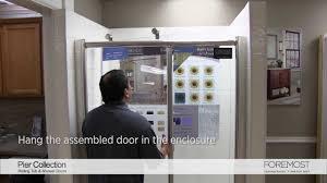 pier roller shower door installation foremost youtube