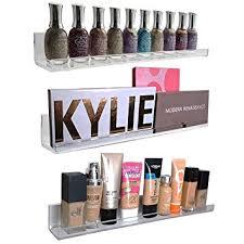 amazon com acrylic wall mount cosmetics organizer makeup palette