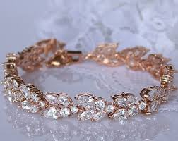 rose gold crystal bracelet images Bridal jewelry accessories special occasion by jamjewels1 jpg
