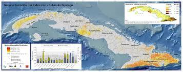 Map Cuba Enrique Armando Castellanos Abella Multi Scale Landslide Risk