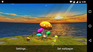 wallpaper 3d mushroom 3d mushroom sun live wallpaper free download of android version