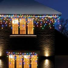 480 multi coloured led snowing icicle lights