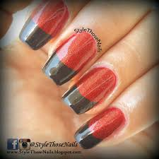 style those nails distressed french tip nails red nails for fall