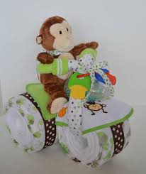 monkey centerpieces for baby shower cake tricycle trike baby shower gift jungle monkey