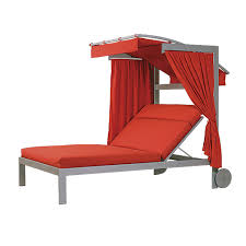 Outdoor Chaise Lounge Chairs With Wheels Double Chaise Lounge With Adjustable Canopy Lc 2895 46lwc