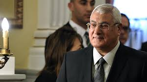 adly mansour the ex president of egypt to lead a donation
