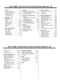 2013 gmc terrain owners manual automobile layouts motor