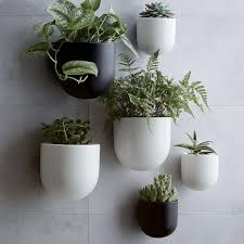 ceramic wallscape planters west elm uk indoor plants