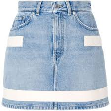 denim blue givenchy short skirt with straps detail 725 liked on