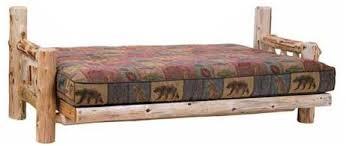 peeled cedar log futon minnesota log futons lonesome cottage