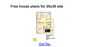 floor plan sles free house plans for 20x30 site docs