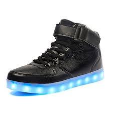high top light up shoes maniamixx kids led flashing trainers light up high top shoes outdoor